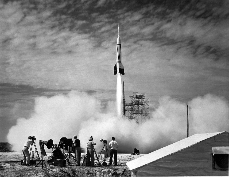 <p>Bumper 8, the first rocket launched from Cape Canaveral , Florida. July 24, 1950. <em>Courtesy: NASA/US Army</em></p>
