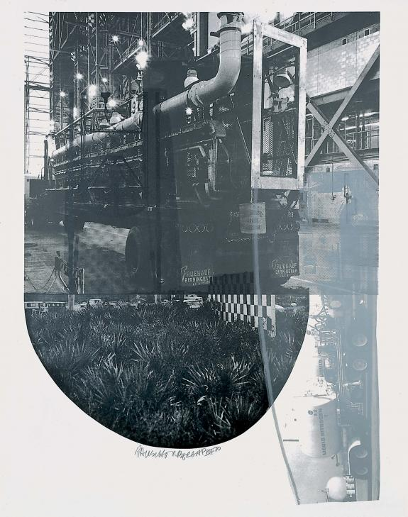 <p><em>Tracks (Stoned Moon)</em>, 1970.  Lithograph, 44 x 35 inches.  © Robert Rauschenberg Foundation and Gemini G.E.L.</p>