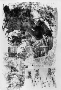 <p><em>Brake (Stoned Moon)</em>, 1969.  Lithograph, 42 x 29 inches.  © Robert Rauschenberg Foundation and Gemini G.E.L.</p>