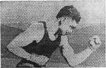 1921 image reproduced by a telegraph printer with special typefaces.