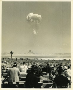 Atomic Energy Commission photo of an atomic bomb test, April 22, 1952, Yucca Flat, Nevada. Collection: International Center of Photography, NY