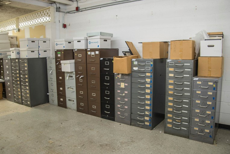 Files of Keith Porter's papers in  the Center for Biological Sciences Archives, Albin O. Kuhn Library Special Collections, UMBC