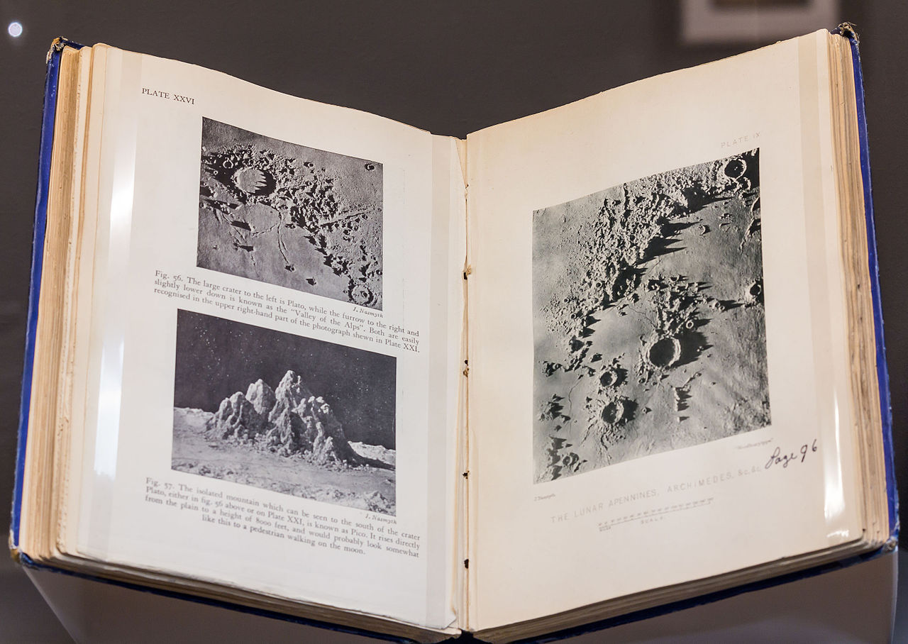 <p>Page spread, <em>The Moon: A Planet, A World, and A Satellite</em>, 1874</p>