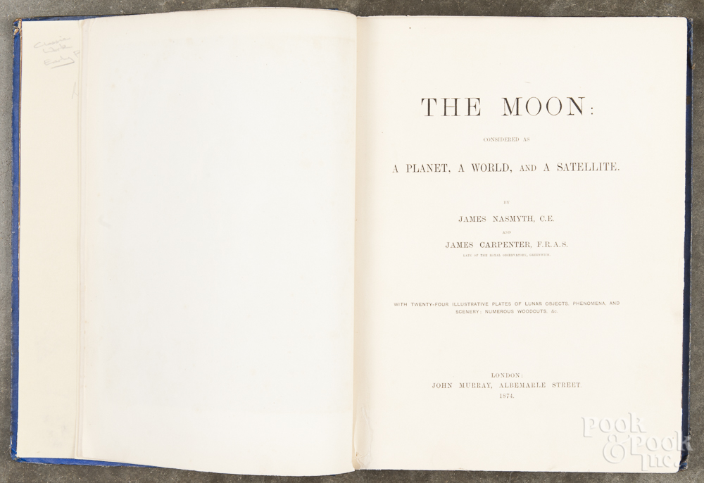 <p>Title page, <em>The Moon: A Planet, A World, and A Satellite</em>, 1874</p>