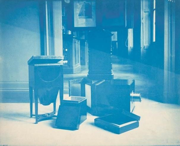 <p>Samuel F. B. Morse&#8217;s Daguerreotype Equipment, 1888, cyanotype, courtesy: Smithsonian Institution Archives</p>