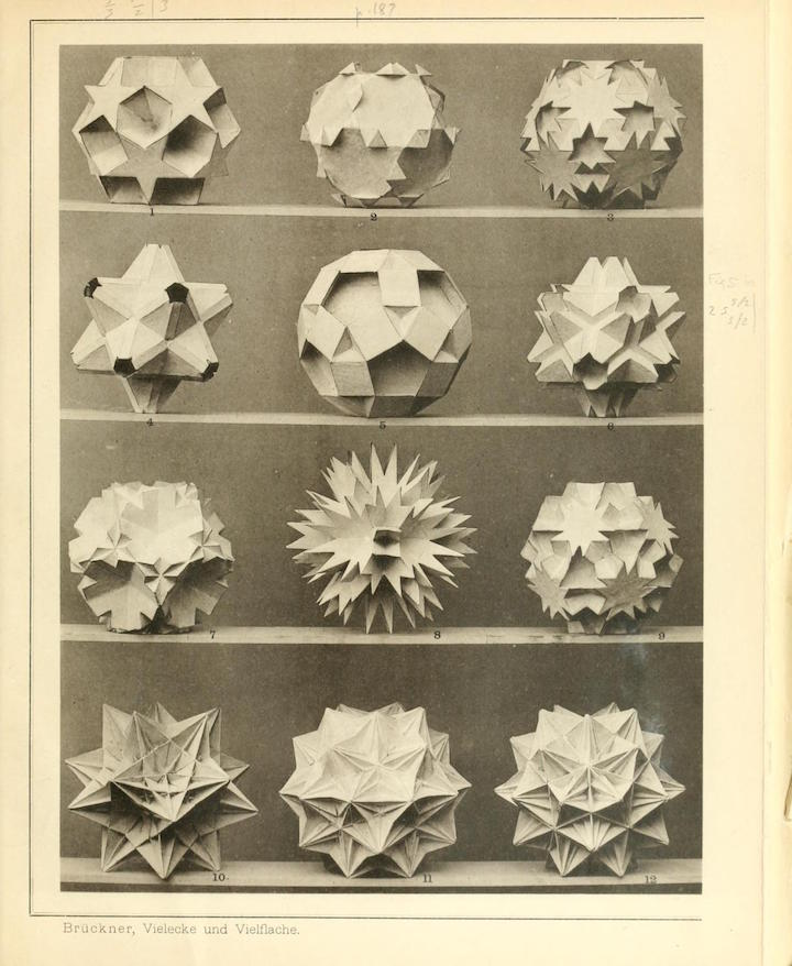 <p>A page from <em>Vielecke und Vielflache: Theorie und Geschichte (Polygons and Polyhedra: Theory and History),</em> published in 1990 by B. G. Teubner, Leipzig</p>