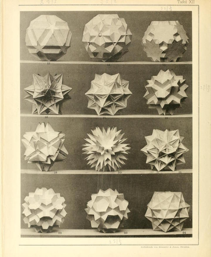 <p>A page from <em>Vielecke und Vielflache: Theorie und Geschichte (Polygons and Polyhedra: Theory and History),</em> published in 1990 by B. G. Teubner, Leipzig</p> <p>&nbsp;</p>
