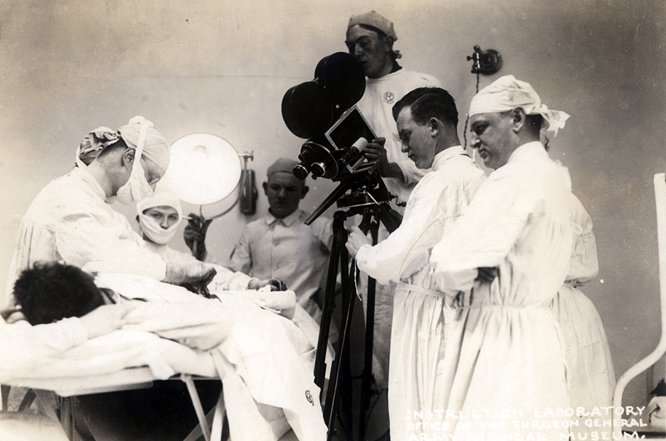 filming surgery ww1