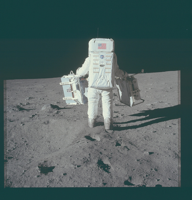 <p>An Apollo 11 Hasselblad image from film magazine 40/S &#8211; EVA, 1969</p>
