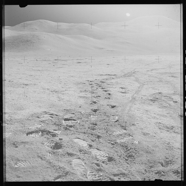 <p>An Apollo 15 Hasselblad image from film magazine 92/OO &#8211; EVA-2, 1971</p>
