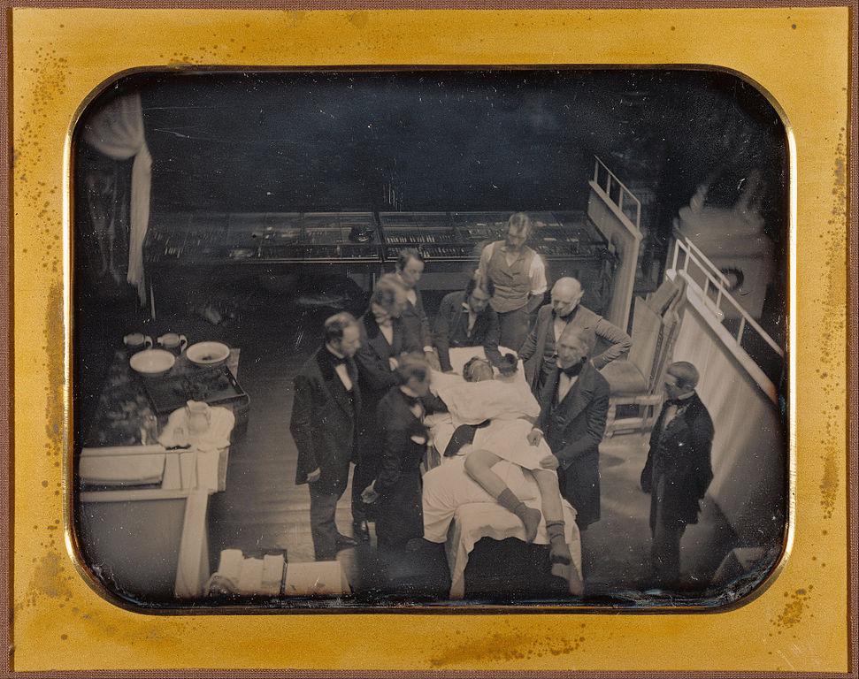 Southworth & Hawes,  Early Operation Using Ether for Anesthesia, 1847, daguerreotype, courtesy: The J. Paul Getty Museum, Los Angeles